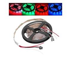 5M WS2812B IC SMD5050 Non-waterproof RGB LED Strip Light Individual Addressable Rope Lamp DC5V