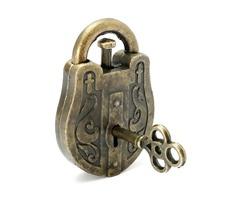 Metal Cast God Lock Puzzle Retro Vintage Lock IQ&EQ Mind Brain Teaser Souptoys Gift