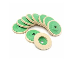 10pcs 100mm Round Wool Buffing Polishing Wheel Felt Pad Buffer Discs