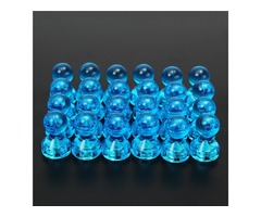 24pcs Blue Magnetic Push Pins Magnets for Fridge Calendars White Boards And Map