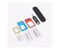 Lention 5-in-1 Nano Micro Sim Card Adapter Kit Converter With Sander Bar And Tray Open Needle