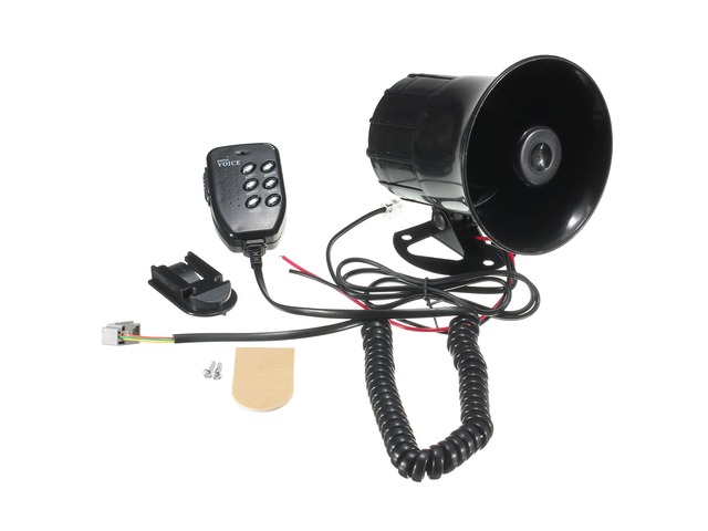 115db Car Motorcycle Megaphone Speaker Audio 6 Sound Siren Horns with MIC | FreeAds.info