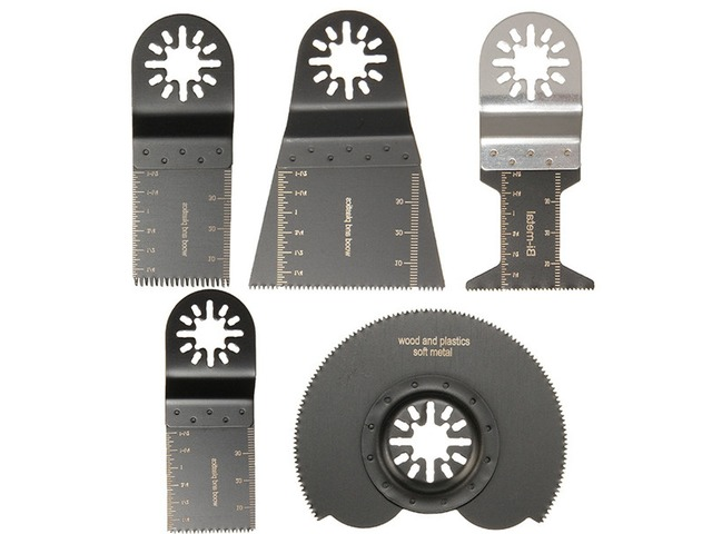 5pcs Mix Saw Blades Oscillating Multitool For Parkside Workzone Einhell Challenge AEG Multitool | FreeAds.info