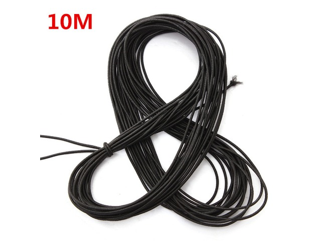 10M Black Thread Elastic Cord Round String Thong | FreeAds.info