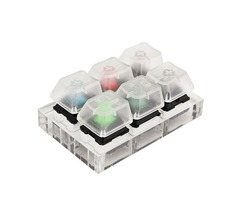 6X Mechanical Keyboard Switches Tester Kit Clear Keycaps Sampler For Cherry MX