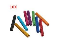 Suleve™ M3AS8 10Pcs M3x35mm Knurled Standoff Bolt Nut Aluminum Alloy 6061 Multicolours