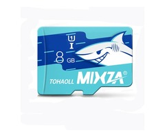 MIXZA Shark Edition Memory Card 8GB TF Card Class6 For Smartphone Camera MP3