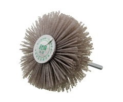 6mm Shank 80 Grit Abrasive Grinding Wheel Brush Woodworking Polishing Wheel