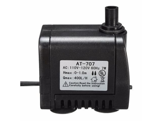 AC 110V-120V 400L/H Small Submersible Water Pump Fountain Pond Fish Aquarium | FreeAds.info