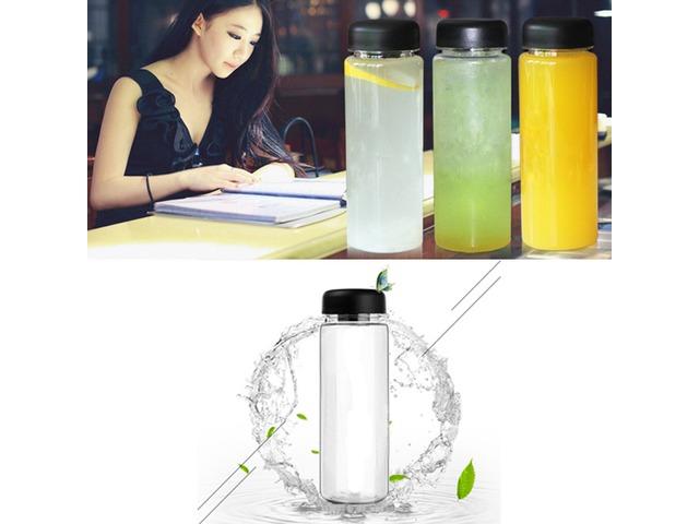 500ml Portable Clear Water Bottle Sport Bicycle Plastic Fruit Lemon Juice Water Cup   FreeAds.info
