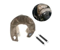 Turbocharger Cover WrapT3 Titanium Turbo Blanket Heat Shield Barrier