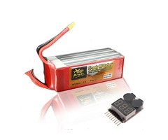 ZOP Power 22.2V 6200mAh 6S 45C Lipo Battery XT60 Plug With Battery Alarm