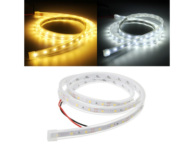 1M SMD3528 60 LED Waterproof Silicon Tube Flexible Strip Light Home Party Car Ribbon Lamp DC12V | FreeAds.info
