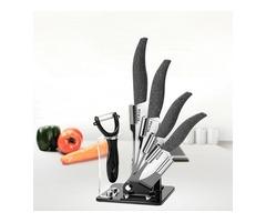 KCASA KF-1 5 Pieces Zirconia Ceramic Knife Set Multi-function Ergonomic Chef Knife Slicer Peeler