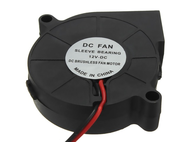 10Pcs 3D Printer 12V DC 50mm*50mm Blow Radial Cooling Fan | FreeAds.info